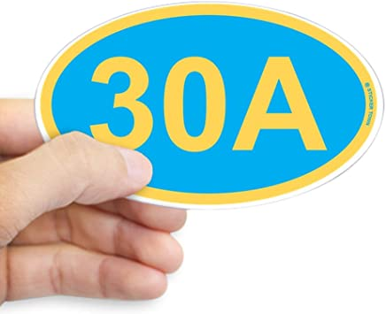 Florida State Road 30A Sticker Decal R1367 Highway Sign