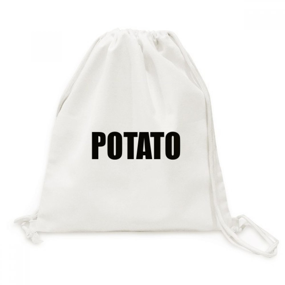 Potato Vegetable Name Foods Canvas Drawstring Backpack Travel Shopping Bags