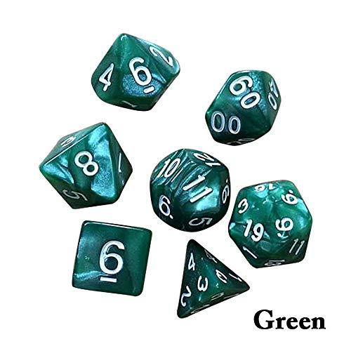 7pcs/Set Polyhedral dice DND Metal dice Set Dungeons & Dragons Dice RPG Games Dice for Shadowrun, Pathfinder, Savage World, Warhammer