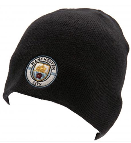 Manchester City FC Beanie Knitted Hat Navy - Official, Licensed Product - One Size Fits Most - Team Crest on Front - Great Looking Beanie by Manchester City F.C.
