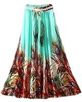 Navabi Export Women's Crepe Fabric Digital Printed Stitched Skirt (Multi-Colour)