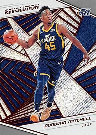6545fc891 2018-19 Revolution Basketball  39 Donovan Mitchell Utah Jazz Official NBA  Trading Card By