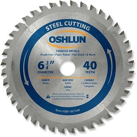 "6 Pack OSHLUN SBF-065048 6-1//2/"" x 48T Steel Cutting Saw Blade"