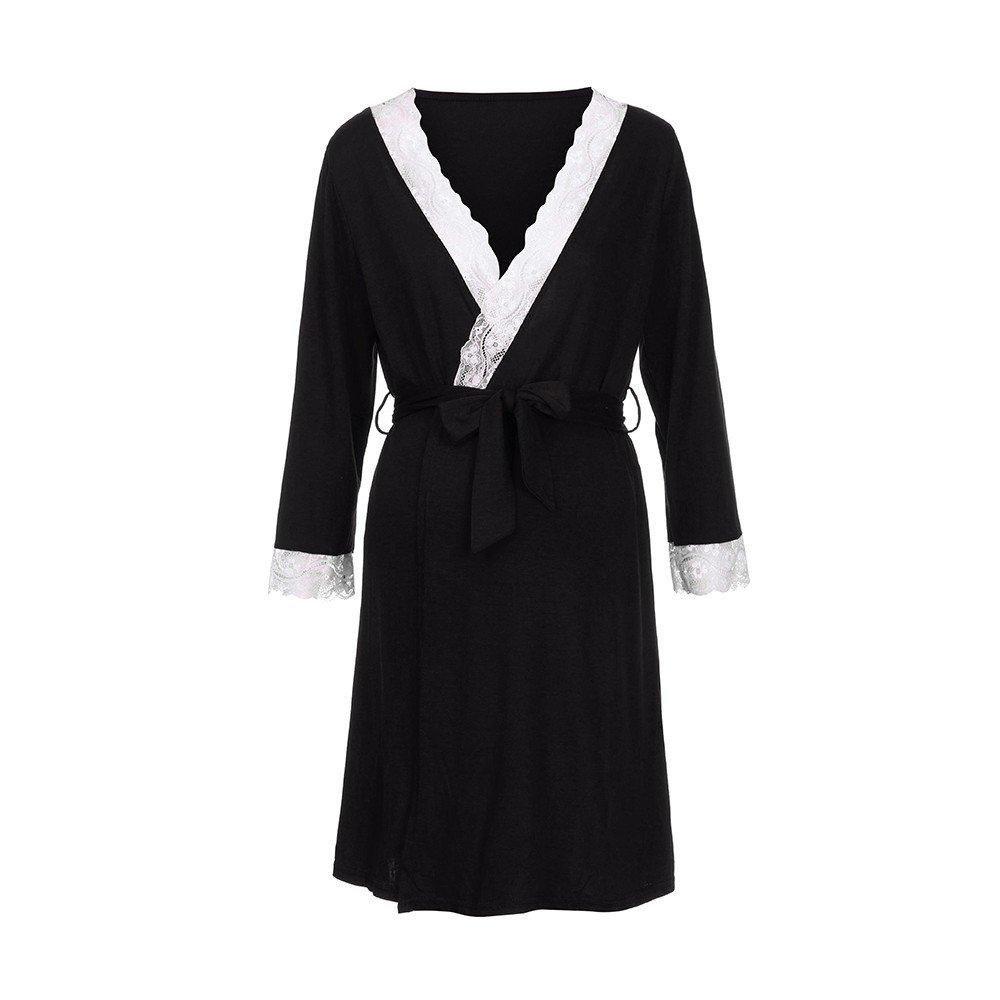 dac9567ed STRIR-Ropa Premamá de Lactancia Algodón Pijama para Mujer Vestido ...