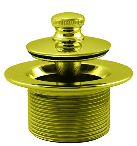 (Westbrass D3324-01 Bathtub Drain Plug, PVD Polished Brass)