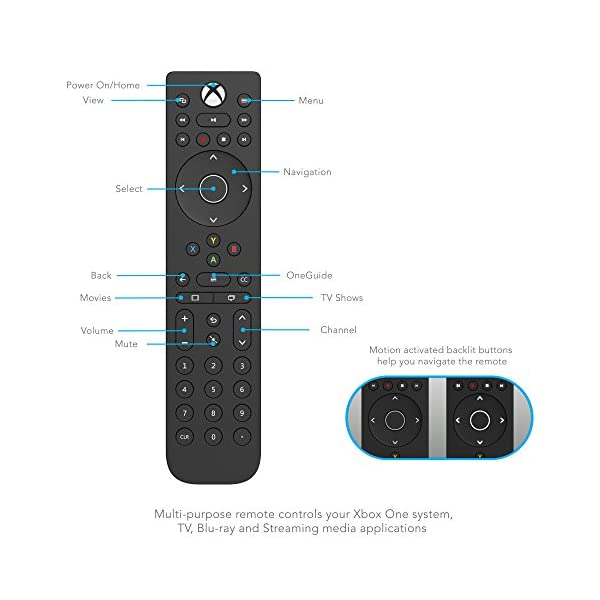 PDP 048-083-NA Talon Media Remote Control for Xbox One, TV, Blu-Ray & Streaming Media 3