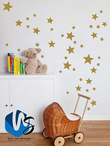 55 mixtes Taille étoiles Stickers muraux Autocollant Kid Art Chambre ...