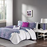 Mila Coverlet Set Purple Full/Queen