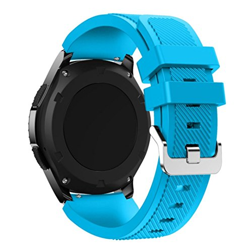 Samsung Gear S3 Frontier Replacement Watch Band, Lookatool Fashion Sports Silicone Bracelet Strap Band For Samsung Gear S3 Frontier (Sky Blue)