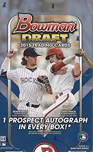 2015 Bowman Draft Picks Baseball Cards Hobby Box (24 Packs/Box, 7 Cards/Pack). Each box includes 1 autograph. Look out for other rookie inserts, parallels, and die cuts! 11/25 Release Date. from Bowman Draft Picks