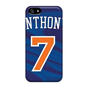 Slim Fit PC Protector Shock Absorbent Bumper New York Knicks Case For Iphone 5C Cover