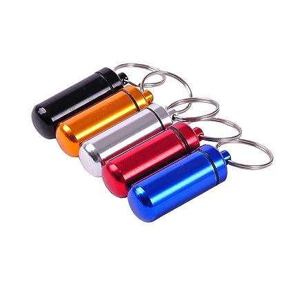 Mini Caja de píldoras Impermeable llaveros de Metal para ...