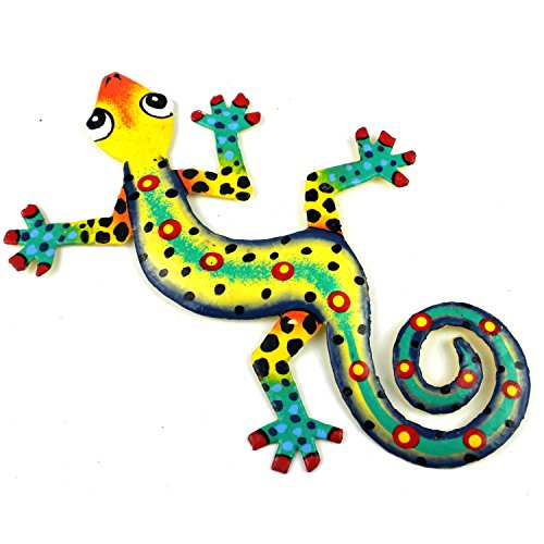 Eight Inch Jazz Hands Metal Gecko