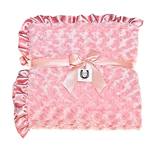 Max Daniel Coral Rosebuds Adult Throw - Double Sided and ...