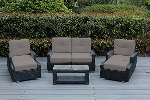 Ohana Luxury Outdoor Patio Furniture Collection 7 pc Tall Back Set