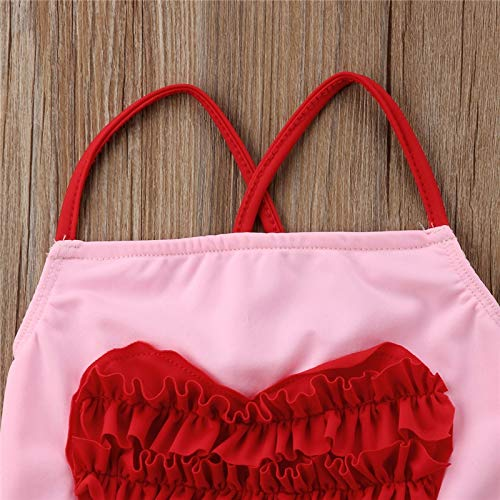 24M CUSHY PUDCOCO Toddler Kids y Girls 3D Heart One piece Bikini Swimwear Hot sUMMER Swimsuit Bathing Suit Swimming Beachwear Pink
