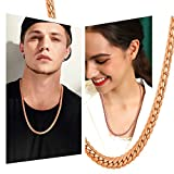 U7 Personalized Necklace|Rose Gold Plated Hip Hop