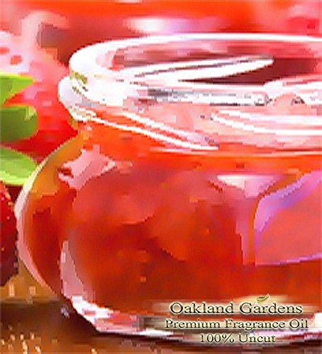 STRAWBERRY JAM Fragrance Oil - Succulent strawberries, sweet vanilla sugar, and sticky syrup - By Oakland Gardens
