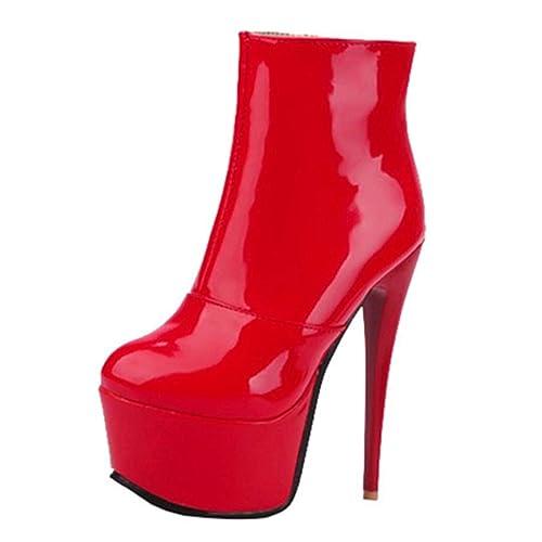 Artfaerie Lack Heels Stiletto Extrem High Stiefeletten Damen dxreBoC