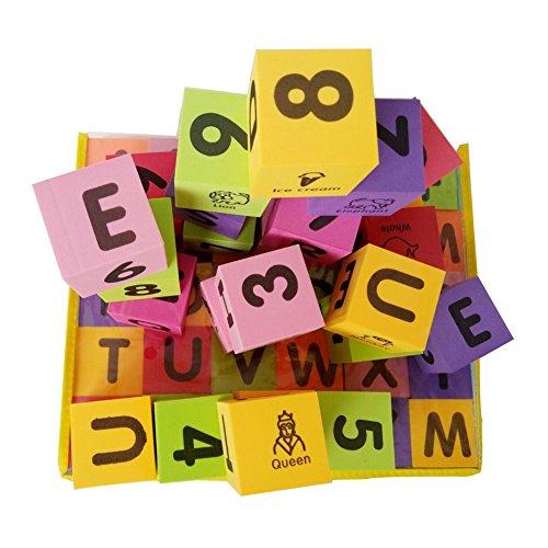 MOBU Eva Foam Building Blocks 30 Pcs Soft Alphabet Blocks (ABC) Numbers Blocks (123) Animal Multi-colored Child's Cognitive Preschool Educational Toys by MOBU (Image #4)