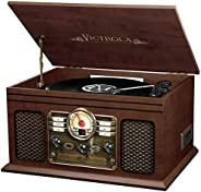 Victrola Nostalgic 6-in-1 Bluetooth Record Player & Multimedia Center with Built-in Speakers - 3-Speed Tur