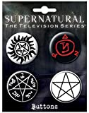 mens supernatural merchandise - Ata-Boy Supernatural Runes Assortment #1 Set of 4 1.25