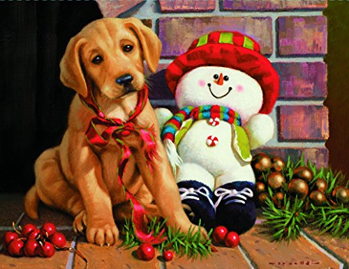"LANG - Boxed Christmas Cards -""New Found Friends"" Artwork by Jim Lamb - 18 Cards, 19 Envelopes - 5"" x 7"""