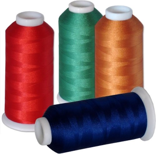 60-Cone Commercial Polyester Embroidery Thread Kit - 60 Colors - 5500 Yards - 40wt by ThreaDelight