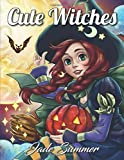 #7: Cute Witches: An Adult Coloring Book with Magical Fantasy Girls, Adorable Gothic Scenes, and Spooky Halloween Fun