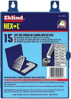 product image for Wright Tool 9E10515 Hex Key Set Metric, 15-Piece