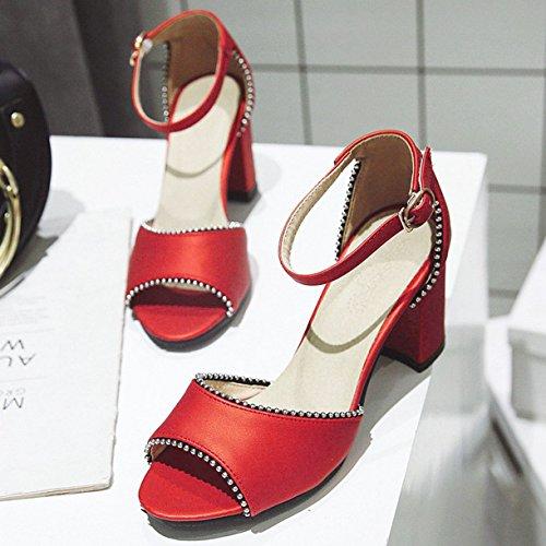 Femme Rouge JYshoes JYshoes Cheville Bride Bride Cheville 7xZPXw