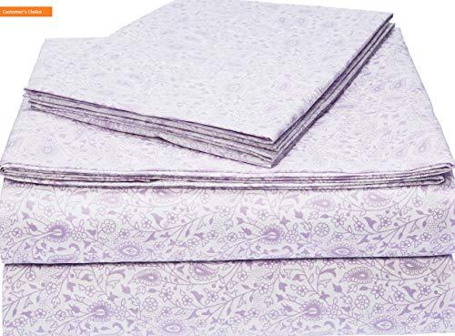 Mikash New Soft Microfiber Sheet Set - Full, Lavender Paisley | Style -