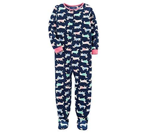 Blue Fleece Carters (Carter's Girls' 12M-12 Dog Fleece Pajamas Blue 6)