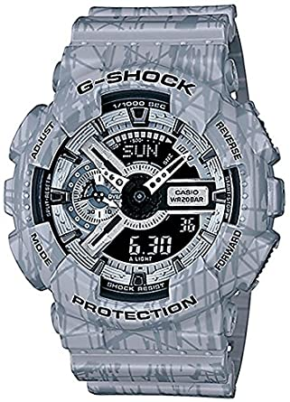 G-Shock GA-110 Slash Patter Luxury Watch - Grey/One Size. Casio