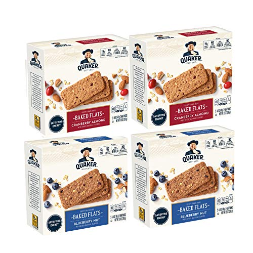 (Quaker Baked Flats, Blueberry Nut & Cranberry Almond, 5-3 Bar Packs (Pack of 4))