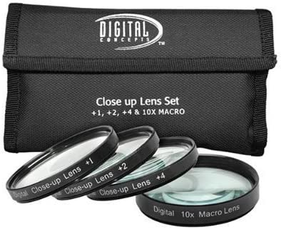1 10 Close-Up Macro Filter Set with Pouch For Specific Canon Lenses 4 Digital Concepts 52mm DB ROTH Microfiber Cleaning Cloth Models Specified In Details 2