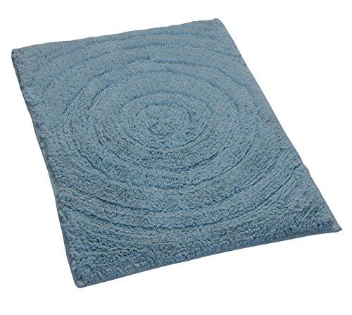 (Castle Hill Echo Spray Latex Back Bath Rug, 21 by 34-Inch, Light Blue)