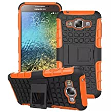 DRUnKQUEEn Shockproof Heavy Duty Combo Hybrid Rugged Dual Layer Grip case Cover with Kickstand for Samsung Galaxy E5 E500