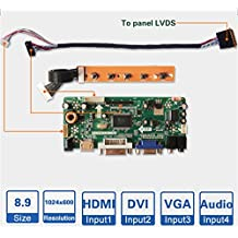 ZQ100WT M.NT68676 (HDMI+DVI+VGA+Audio) LCD Controller Board Kit Laptop Screen DIY Monitor Driver Board (Please Provide Your LCD Model Before Placing It)