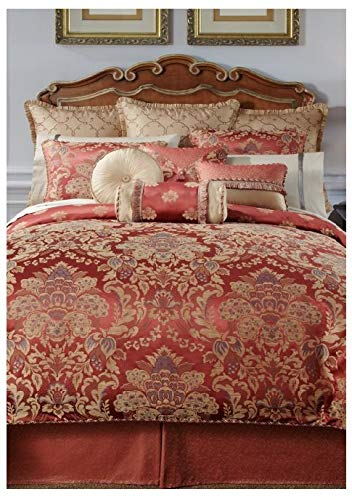 (Waterford Fine Linens Luxury Classic Bed Skirt Bedding Hamilton Collection (Cinnabar Gold, King))