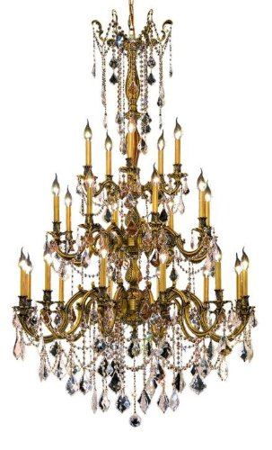 Rosalia 25 Light Chandelier Finish / Crystal Color / Crystal Trim: French Gold / Crystal (Clear) / Royal (Rosalia 25 Light Chandelier)