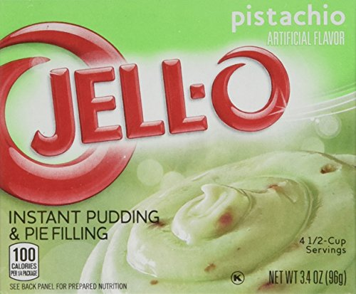Jell-O Instant Pudding & Pie Filling, Pistachio, 3.4-Ounce Boxes (Pack of 4) ()