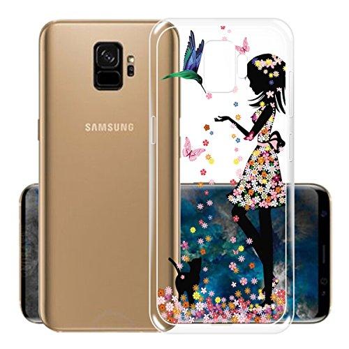 Funda para Samsung Galaxy S9 , IJIA Transparente Rojo Pequeño Meng Pet TPU Silicona Suave Cover Tapa Caso Parachoques Carcasa Cubierta para Samsung Galaxy S9 (5.8) WM49