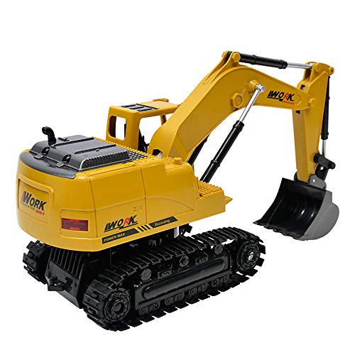 YIYEZI 1:24 Excavator Electric Remote wireless Control Construction Tractor Lorry Toy (Yellow) ()