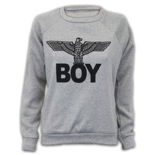 best cheap ab5ed 4067f Damen Sweatshirt Pullover Top Armee Adler Boy Aufdruck Freizeit Fleece  Futter Neu BOY
