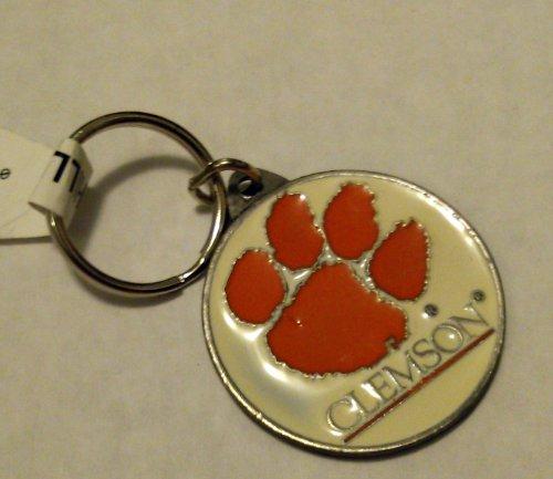 Clemson Tigers PREMIUM Pewter Medallion Keychain Key Chain University of