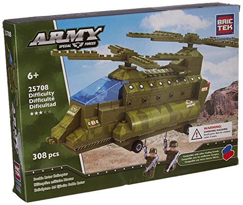 Double Rotor Helicopter - Brictek 25708 Army Double Rotor Helicopter