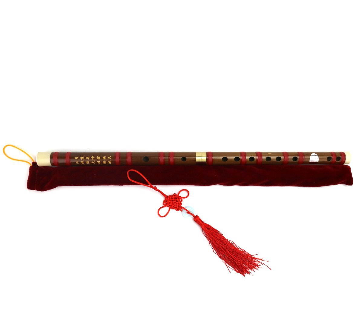 Flute Etudes,Chinese Bamboo Flute Music Fife Flute and Modern Alto Flute with Wholesale Bulk Plastic Champagne Flutes,Traditional Handmade Chinese Musical Instrument (F-RED)