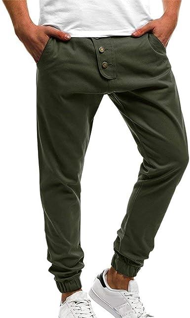 Battercake Pantalones Chinos Hombres Moda Comodos Hombre Bolsillos Con Pantalones Casual Pantalones Deportivos Comodo Jogging Jogging Slim Fit Amazon Es Ropa Y Accesorios