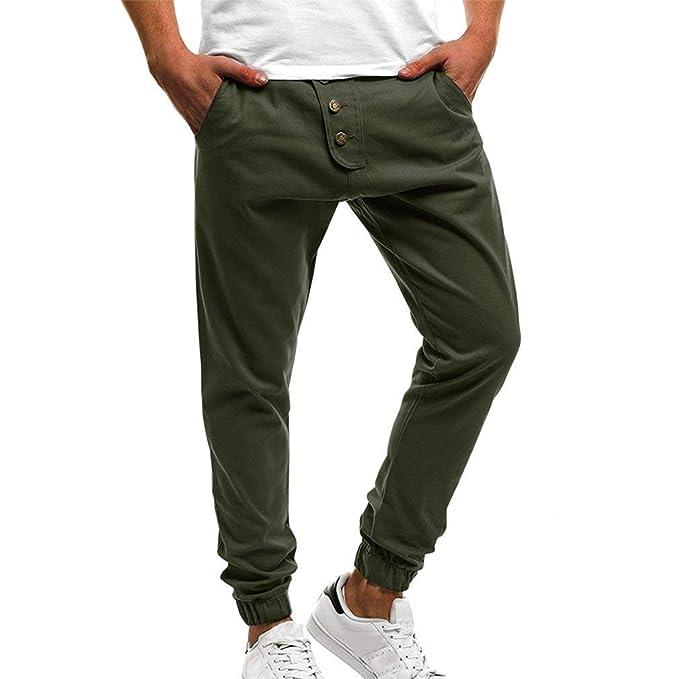 aef38586416b9 ADELINA Pantalones Chinos Hombres Moda Hombre Pantalones Cómodos con Pantalones  Ropa Casual Bolsillos Deportivos Jogging Jogging Slim Fit  Amazon.es  Ropa  y ...